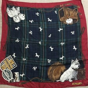 Vintage Ralph Lauren Plaid Dog Puppy Scarf 🐶